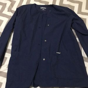 XS navy scrub jacket